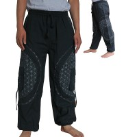 Mandala patch cotton trouser2