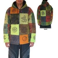 Heavy cotton patch-work jacket