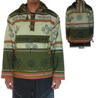 Stripy shyama cotton Green pullover