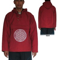 Mandala embroidered cotton pullover