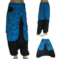 Elephant ear turquoise trouser