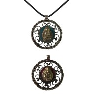 Hearts 2-face Buddha pendent