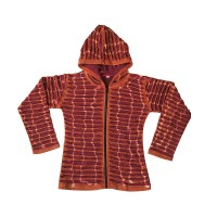 Razor cut rust color hoodie