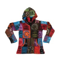 Razor cut stone wash spray paint rib hoodie2