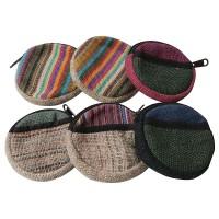 Mixed round coin purse