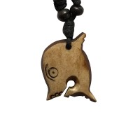 Fish carved bone pendent1