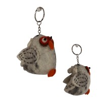 Owl design felt key ring1