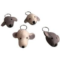 Dog head design key ring