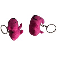 Rabbit design felt key ring