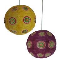 Wax print medium ball lampshade1