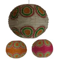 Wax print small ball lampshade1
