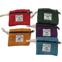 Hemp assorted small coin purse