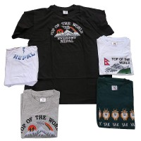 Assorted embroidered t-shirts