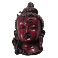 Antique red small Shiva mask 7 inch