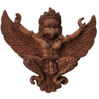Ivory color Garuda mask 6 inch