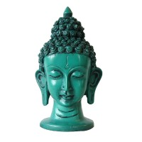 6 inch Turquoise color Buddha head
