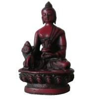 5 inch red medicine Buddha statue