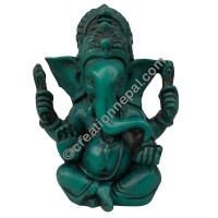 6-inch turquoise color Ganesh
