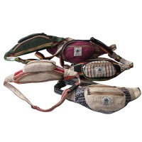 3-pocket hemp and cotton belt bag