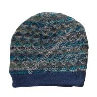 Colorful woolen blue cap