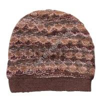 Colorful woolen brown cap