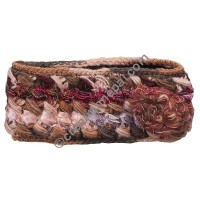 Silk-wool flower brown headband