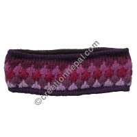 Colorful woolen purple headband