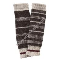 Brown stripes woolen leg warmer