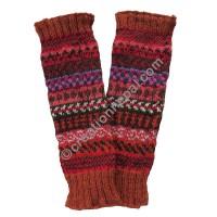 Rust color woolen leg warmer
