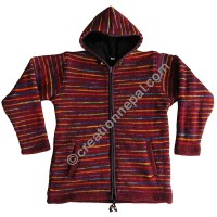Single ply colorful woolen jacket