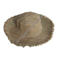 Green shade hemp round hat
