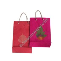 Lokta paper decorated Medium bag