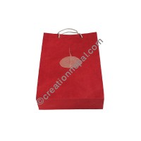 Decorated Lokta paper regular bag