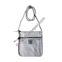 Hemp natural color passport bag