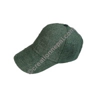 Hemp baseball green cap