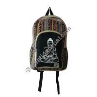Buddha hemp-cotton backpack