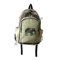 Elephant hemp-cotton backpack