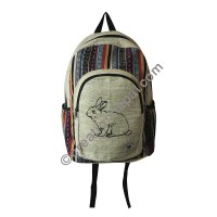 Rabbit hemp-cotton backpack