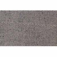 Hemp-cotton black herringbone 29 inch fabric