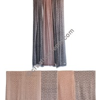 Jacquard pattern soft wool shawl