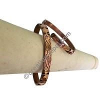 Copper carved bangle