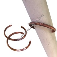 2-face carved copper bangle