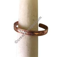 Buddhist Mantra copper bangle