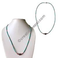 Turquoise beads single necklace