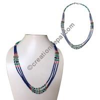 Lapis tiny beads necklace