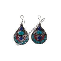 Colorful tear-drop earring2