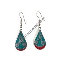 Two color tear drop earring