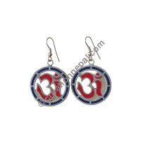 Om mantra circle earring