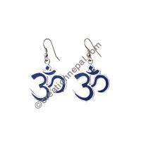 Lapis Om Mantra earring