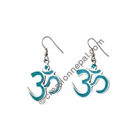 Turquoise Om Mantra earring